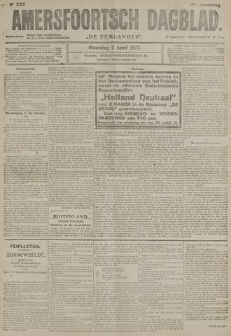 Amersfoortsch Dagblad / De Eemlander 1917-04-02