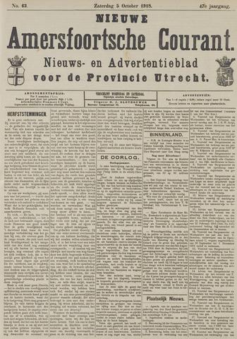Nieuwe Amersfoortsche Courant 1918-10-05