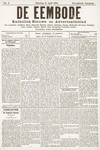 De Eembode 1903-04-11