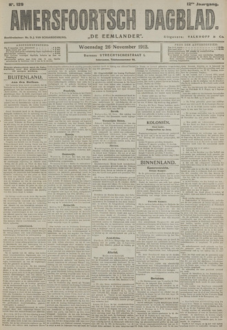 Amersfoortsch Dagblad / De Eemlander 1913-11-26