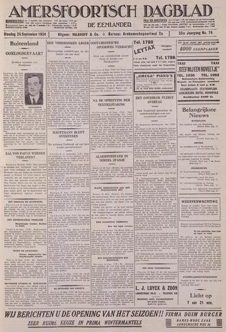 Amersfoortsch Dagblad / De Eemlander 1934-09-25