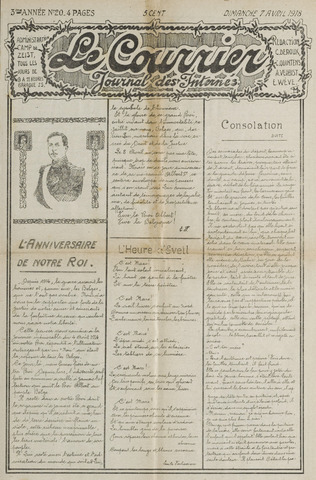 Le Courrier 1918