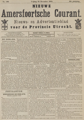 Nieuwe Amersfoortsche Courant 1915-12-24