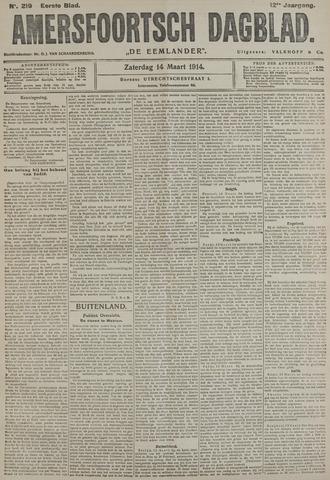 Amersfoortsch Dagblad / De Eemlander 1914-03-14