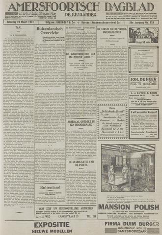 Amersfoortsch Dagblad / De Eemlander 1931-03-28