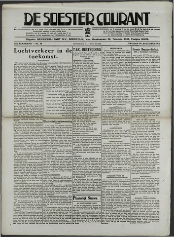 Soester Courant 1941-08-29