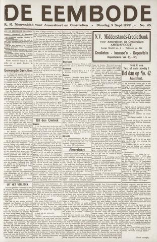 De Eembode 1922-09-05