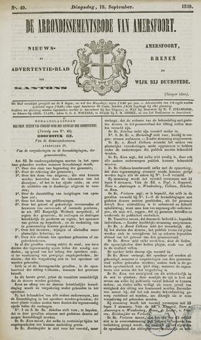 Arrondissementsbode van Amersfoort 1849-09-18