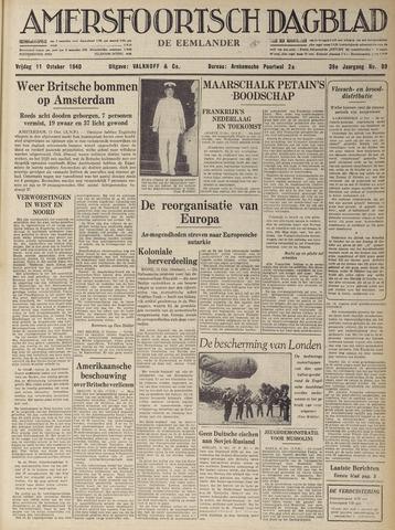 Amersfoortsch Dagblad / De Eemlander 1940-10-11