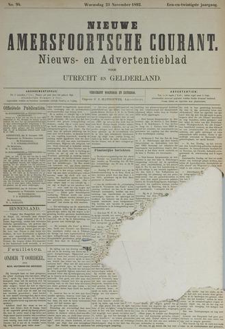 Nieuwe Amersfoortsche Courant 1892-11-23