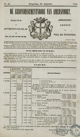 Arrondissementsbode van Amersfoort 1849-08-28