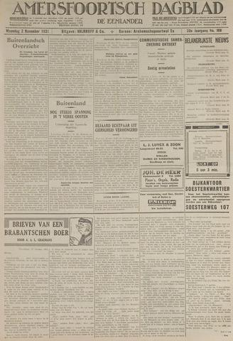 Amersfoortsch Dagblad / De Eemlander 1931-11-02