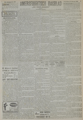 Amersfoortsch Dagblad / De Eemlander 1921-02-23