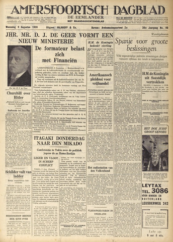 Amersfoortsch Dagblad / De Eemlander 1939-08-09