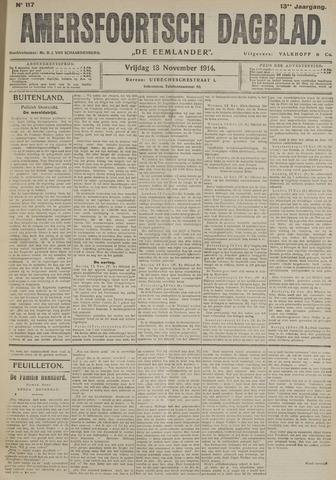 Amersfoortsch Dagblad / De Eemlander 1914-11-13