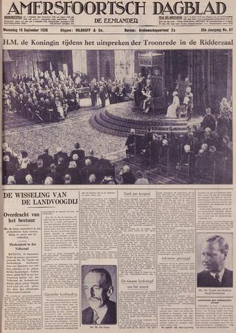 Amersfoortsch Dagblad / De Eemlander 1936-09-16