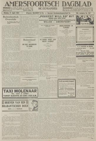 Amersfoortsch Dagblad / De Eemlander 1931-04-21