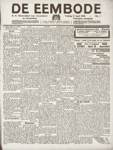 De Eembode 1926-04-02