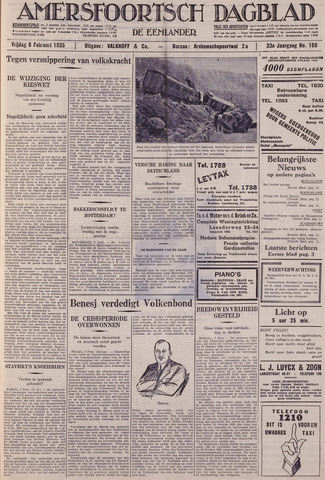 Amersfoortsch Dagblad / De Eemlander 1935-02-08