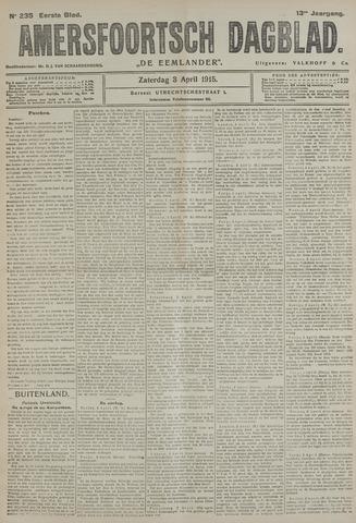 Amersfoortsch Dagblad / De Eemlander 1915-04-03