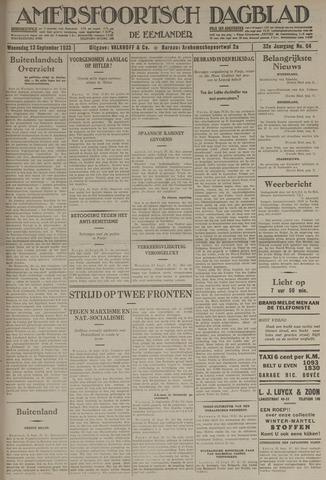 Amersfoortsch Dagblad / De Eemlander 1933-09-13
