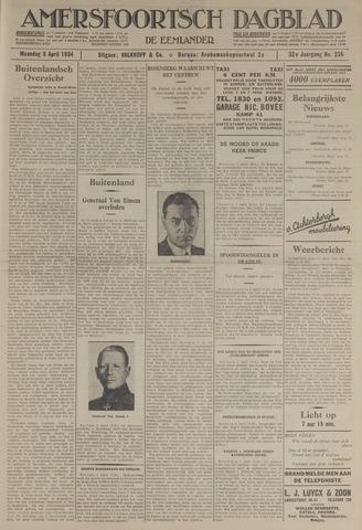 Amersfoortsch Dagblad / De Eemlander 1934-04-09