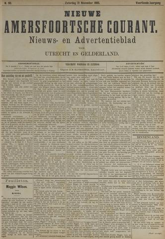Nieuwe Amersfoortsche Courant 1885-11-21