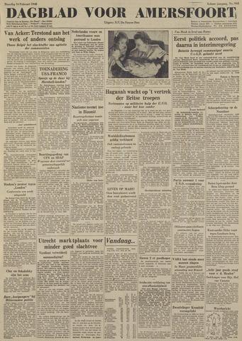 Dagblad voor Amersfoort 1948-02-16