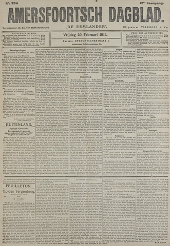 Amersfoortsch Dagblad / De Eemlander 1914-02-20