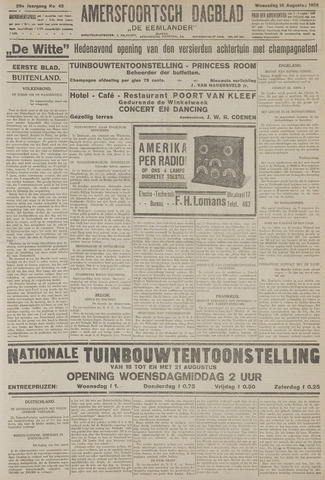 Amersfoortsch Dagblad / De Eemlander 1926-08-18