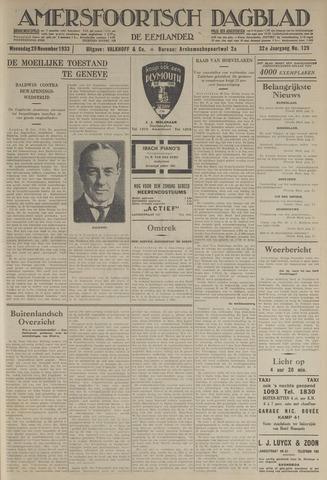 Amersfoortsch Dagblad / De Eemlander 1933-11-29