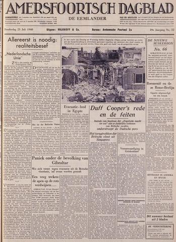 Amersfoortsch Dagblad / De Eemlander 1940-07-25