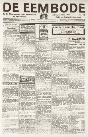 De Eembode 1924-11-07