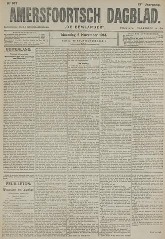 Amersfoortsch Dagblad / De Eemlander 1914-11-02