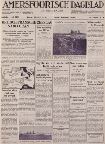 Amersfoortsch Dagblad / De Eemlander 1940-07-04