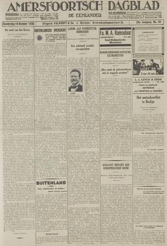 Amersfoortsch Dagblad / De Eemlander 1930-10-16