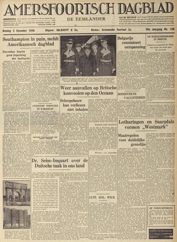 Amersfoortsch Dagblad / De Eemlander 1940-12-03