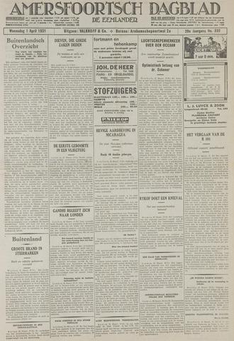Amersfoortsch Dagblad / De Eemlander 1931-04-01