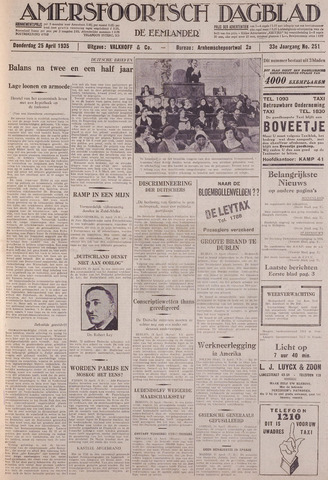 Amersfoortsch Dagblad / De Eemlander 1935-04-25