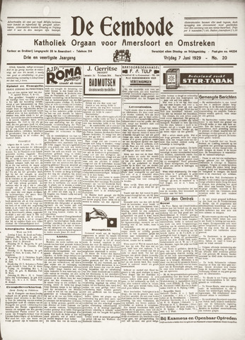 De Eembode 1929-06-07