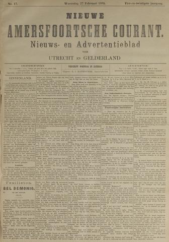 Nieuwe Amersfoortsche Courant 1895-02-27