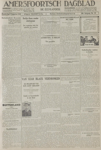 Amersfoortsch Dagblad / De Eemlander 1930-08-21
