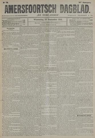 Amersfoortsch Dagblad / De Eemlander 1915-09-29