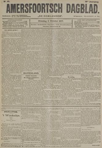 Amersfoortsch Dagblad / De Eemlander 1917-10-02