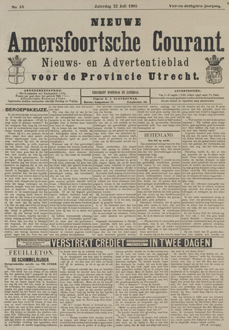 Nieuwe Amersfoortsche Courant 1905-07-22