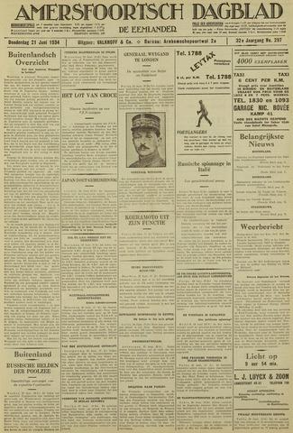 Amersfoortsch Dagblad / De Eemlander 1934-06-21