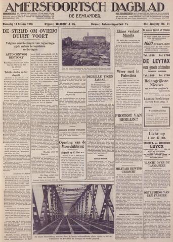Amersfoortsch Dagblad / De Eemlander 1936-10-14
