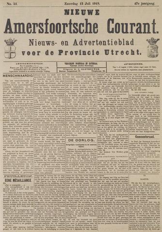 Nieuwe Amersfoortsche Courant 1918-07-13