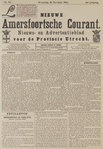 Nieuwe Amersfoortsche Courant 1915-11-24