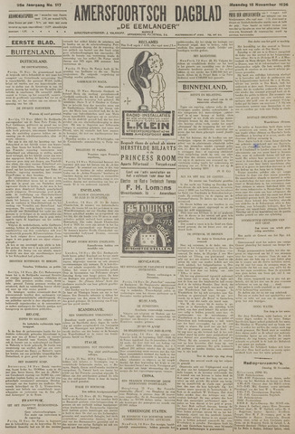 Amersfoortsch Dagblad / De Eemlander 1926-11-15